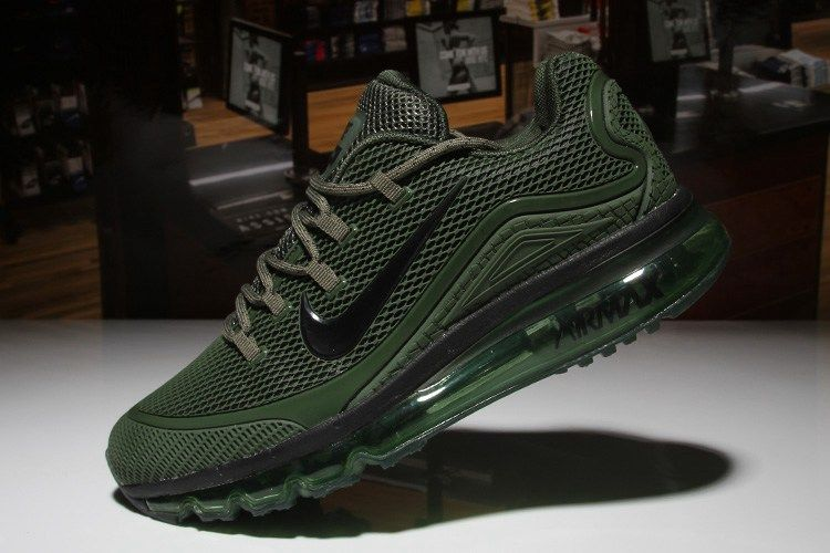 sports shoes f3a6b 74091 Nike Air Max 2018 Elite Hot Army Green Shoes For Men
