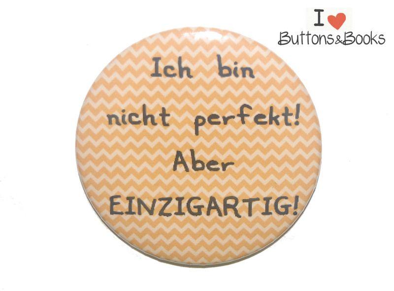 Spruchbutton-50mm-Button-Anstecker-groß+Perfekt+von+Buttons&Books+auf+DaWanda.com