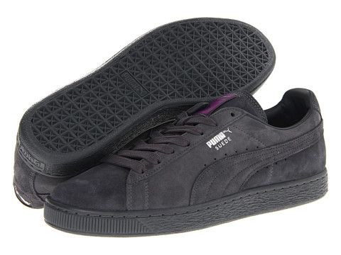 dark grey puma suede