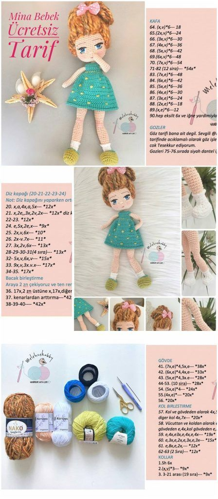 Photo of Amigurumi Doll Mina Bebek Free Patterns – Ücretsiz Tarif