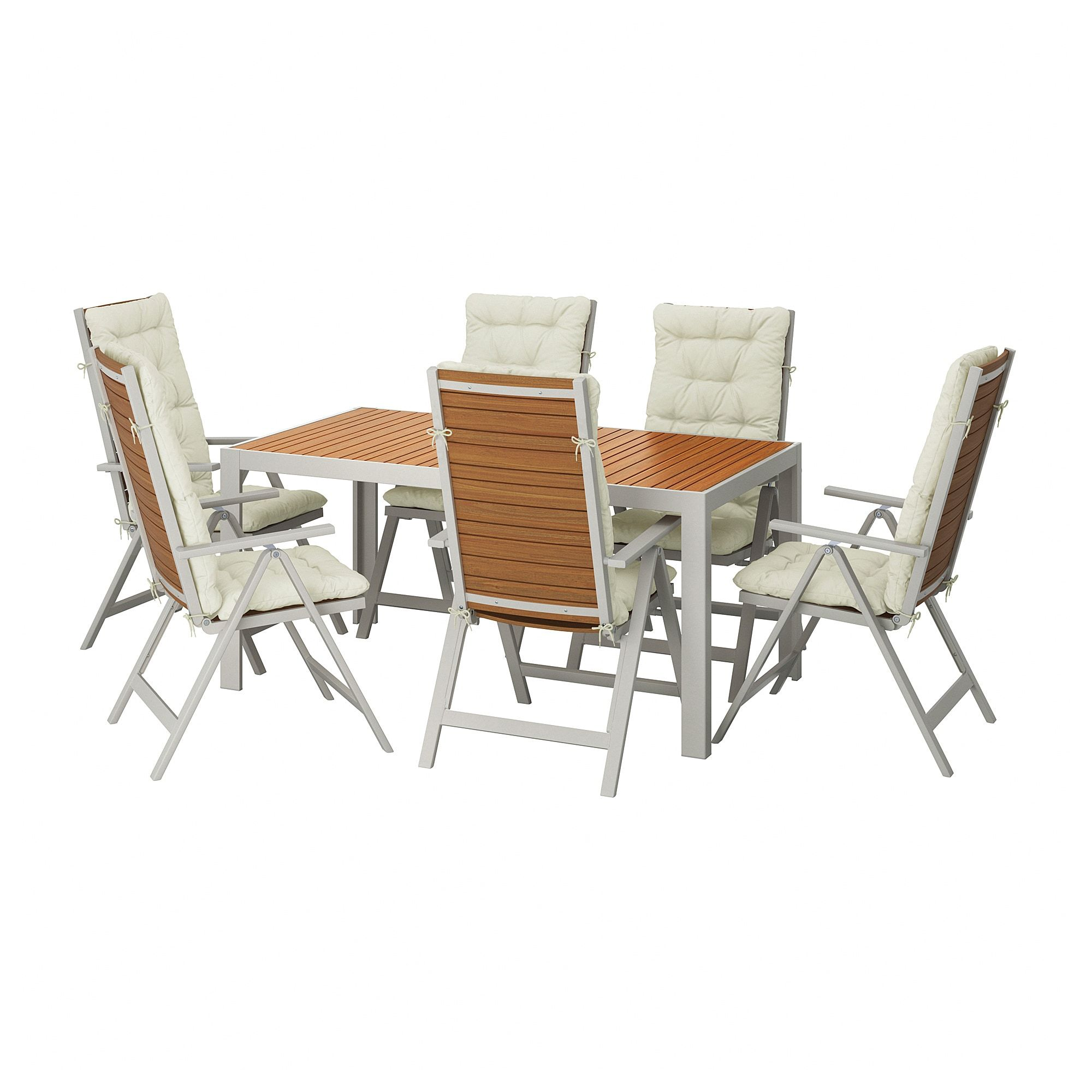 Magnificent Table 6 Reclining Chairs Outdoor Sjalland Light Brown Unemploymentrelief Wooden Chair Designs For Living Room Unemploymentrelieforg