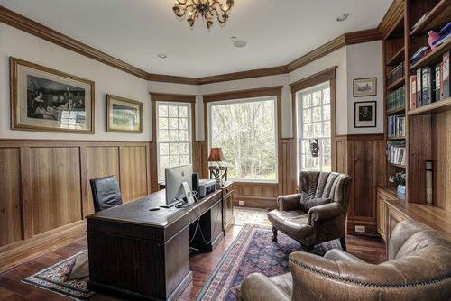 Professional Office Cherry Wood Design, Pictures, Remodel, Decor and