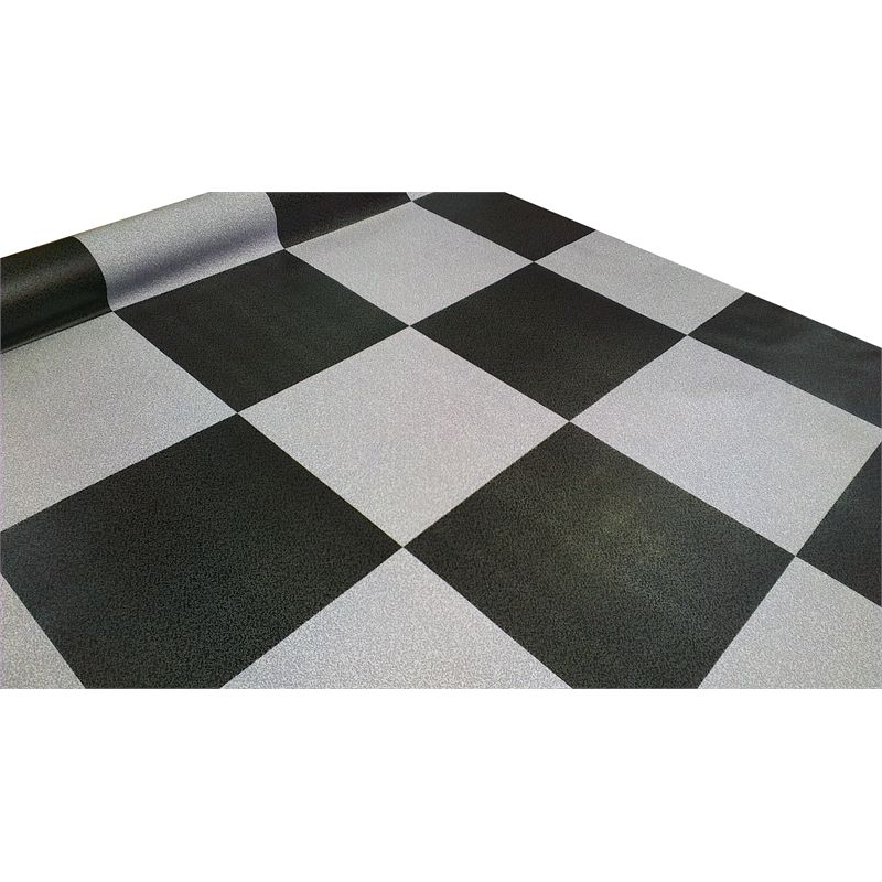 Vinyl Sheet Econo 1 83m Ideal Char&grey Check Bud183 5302
