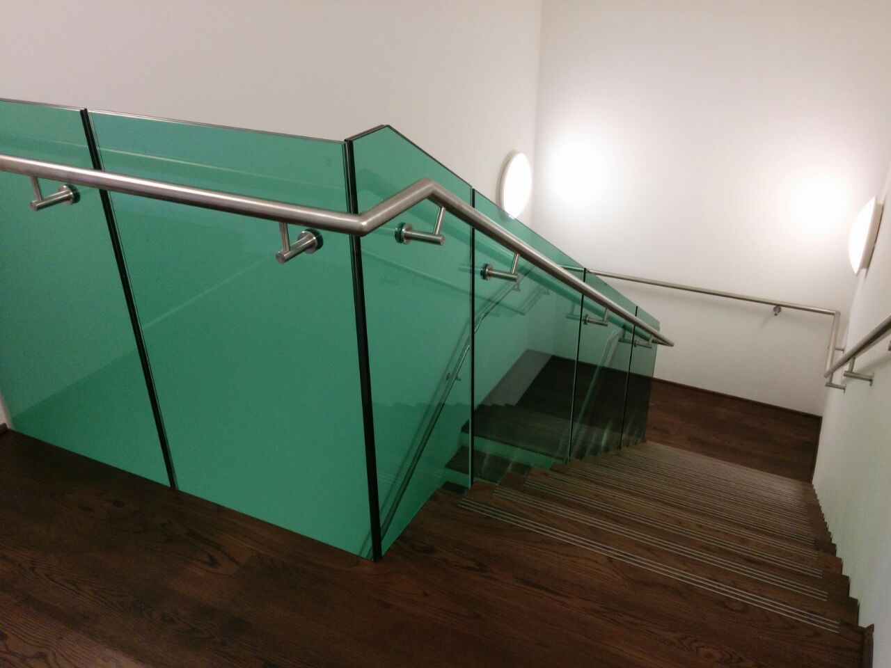 Best Staircase With Frameless Glass Balustrade Green Tint 400 x 300
