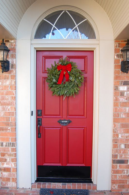 Red Door Home Two Simple Ideas To Add Character To Your: RED DOOR/BLACK KICK PLATE/BLACK HANDLE: Oh Happy Day: Well