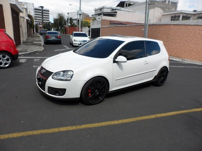 Mk5 White Volkswagen Golf Gti 2009 With Black Rims Volkswagen