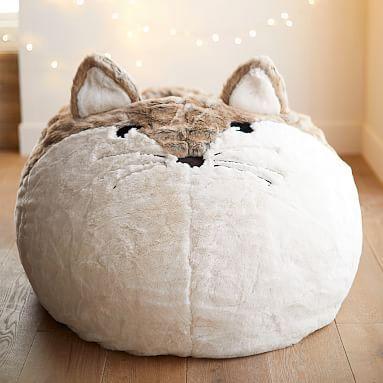 Pleasing Fox Faux Fur Critter Bean Bag Chair Large Set Healdsburg Pdpeps Interior Chair Design Pdpepsorg