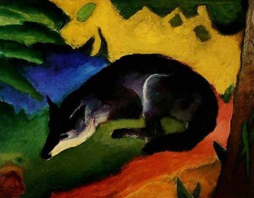 Der Blaue Fuchs By Franz Marc Art Print Worldgallery Co Uk Franz Marc Art Fox Art