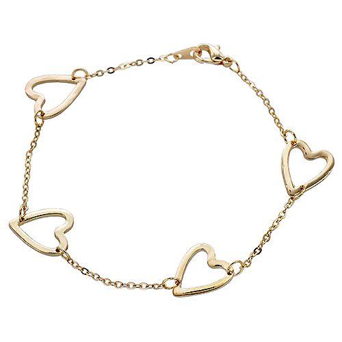 Open Heart Linked Chain Bracelet $3.00