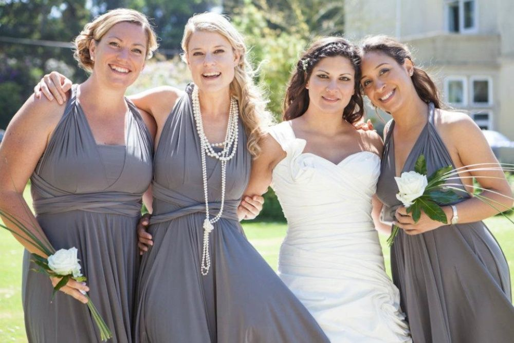 d52ca7f61d twobirds Bridesmaid- it s one dress that can be worn 15 different ways so  they look similar but not identical.