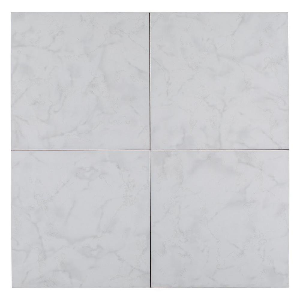 crystal white ceramic tile floor
