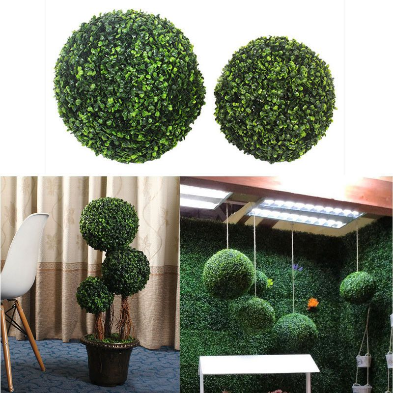 8 12 Artificial Boxwood Ball Outdoor Topiary Plant Bush Pool Yard Patio Deck Outdoor Topiary Topiary Plants Topiary