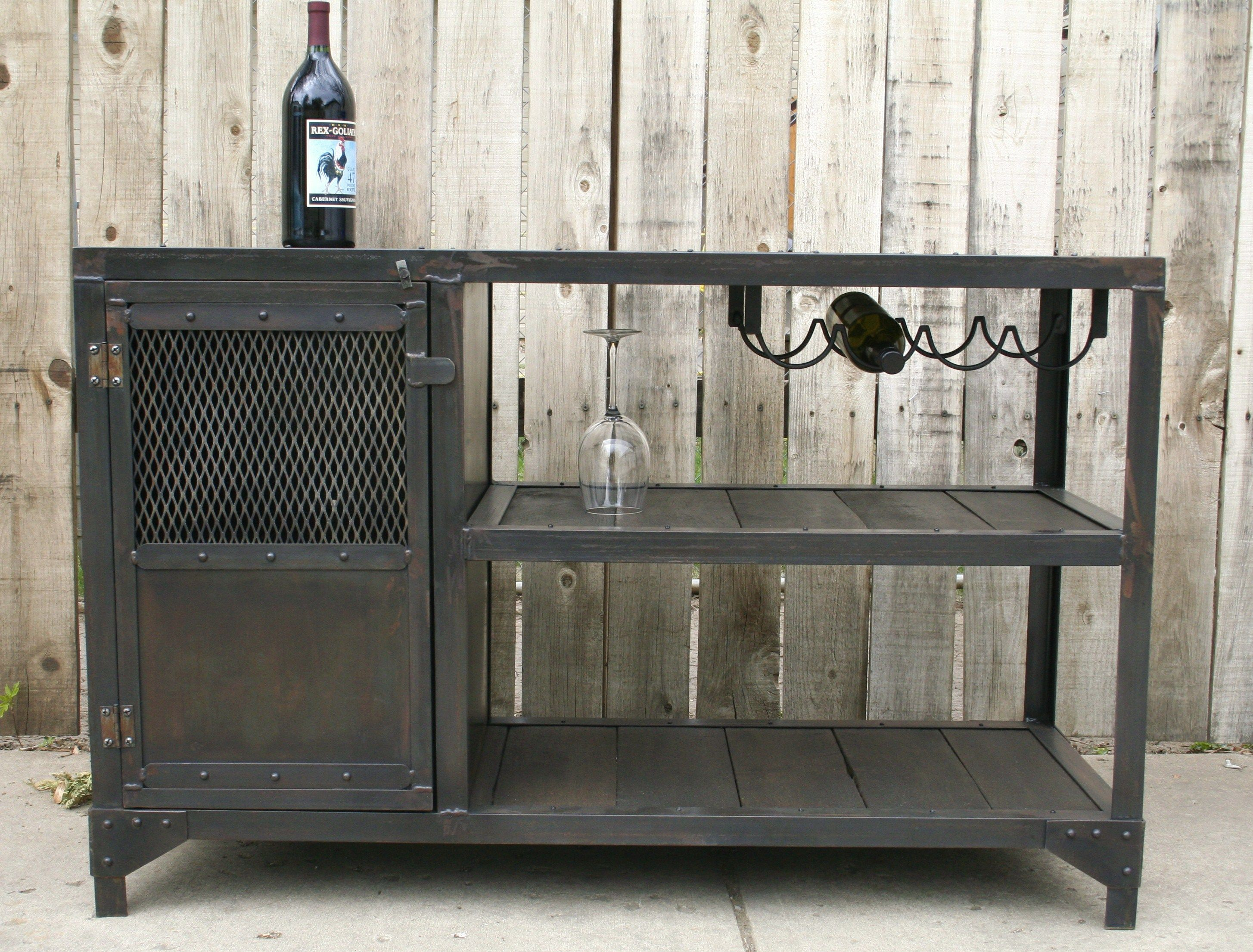 Reclaimed Wood Wine Cabinet Wine Cart Bar Cart Liquor Cabinet Pinteres