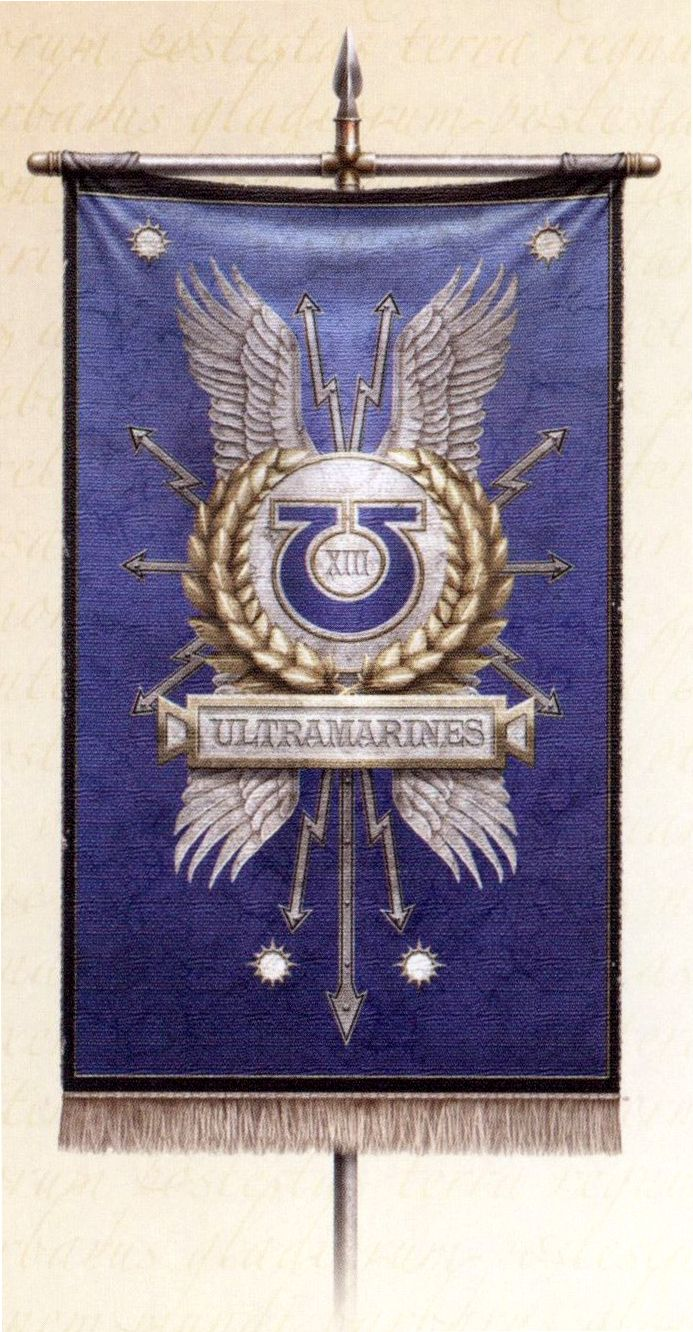 A Ultramarines Legion Banner Ultramarines Warhammer 40k The