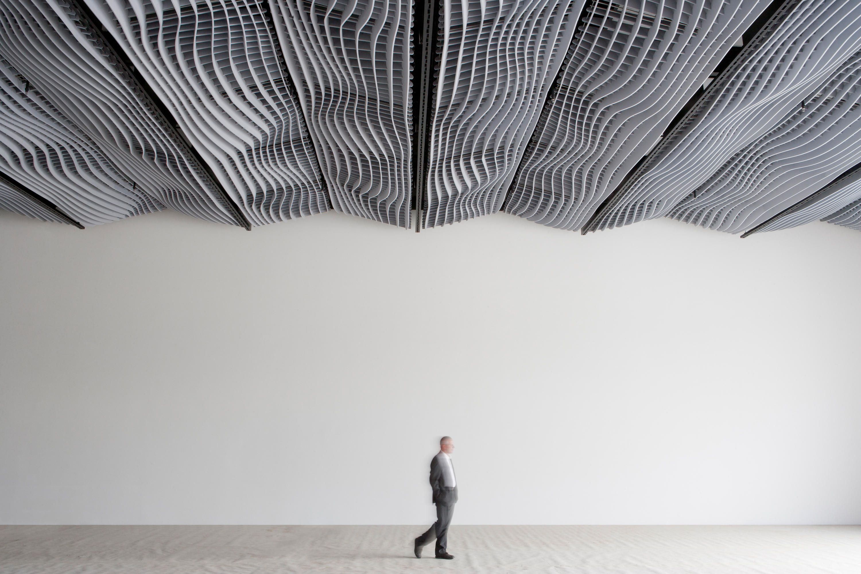 Wave acoustic absorber ceiling ceiling systems by wave - Revestimiento de techos ...