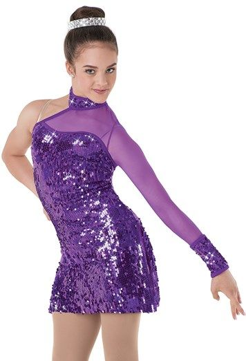 743a0d99 Weissman™ | Asymmetrical Ultra Sequin Mesh Dress | dance costumes in ...