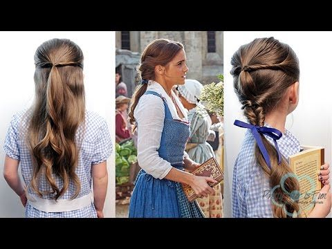 How To Emma Watson Belle Hairstyles Beauty The Beast Pretty