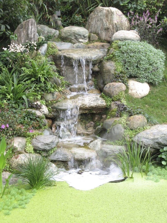 Garden Design Layout Pond 43 Stunning Garden Pond Waterfall Design Ideas Gardenidea In 2020 Waterfalls Backyard Small Garden Waterfalls Water Features In The Garden