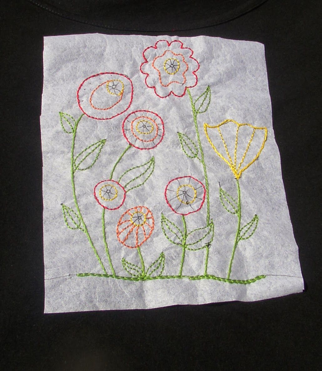 Hand stitched stories transferring embroidery designs to tshirts