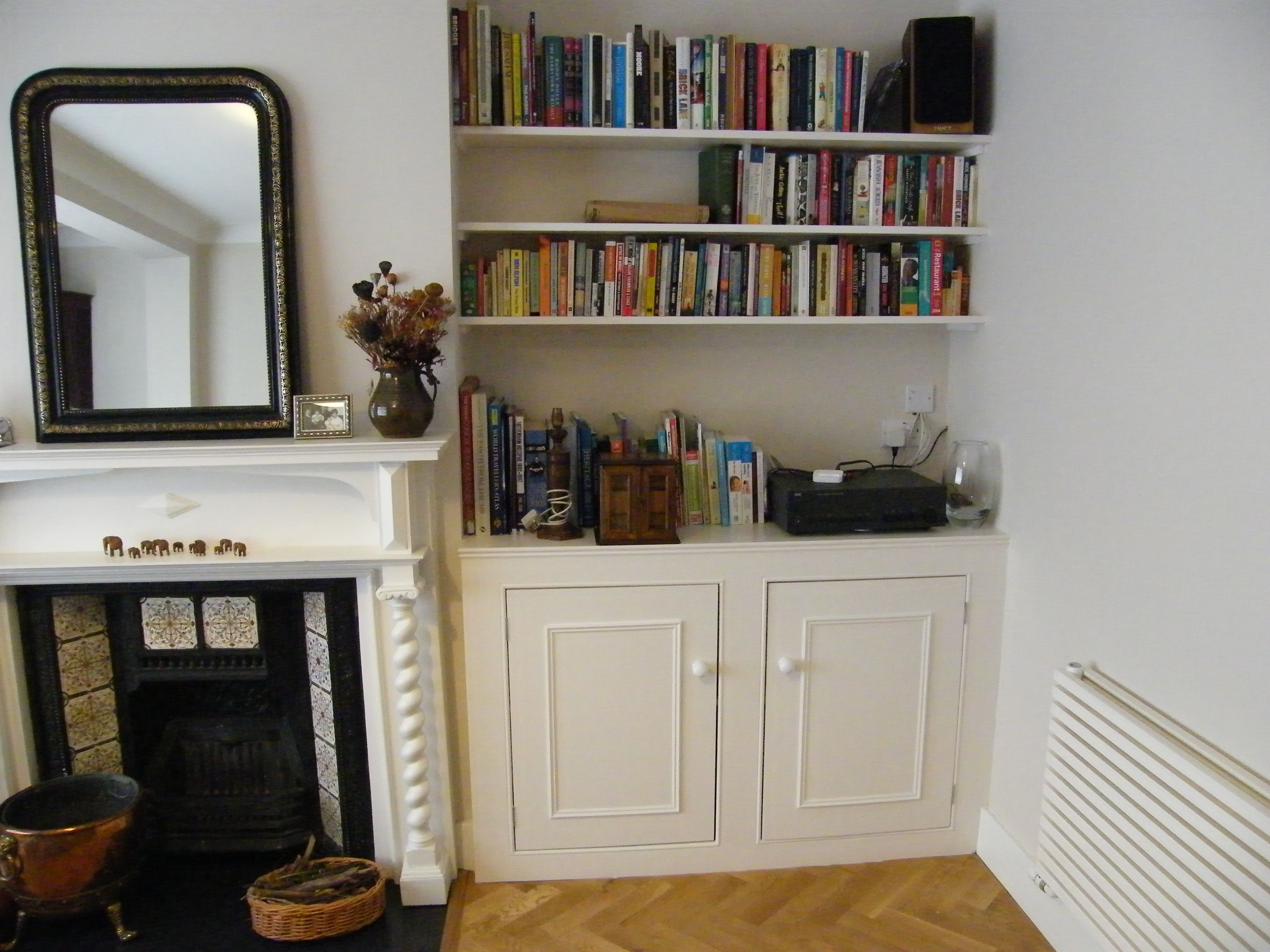 Great Alcove Cabinet With Inset Doors And Bookcase. Crouch End N8