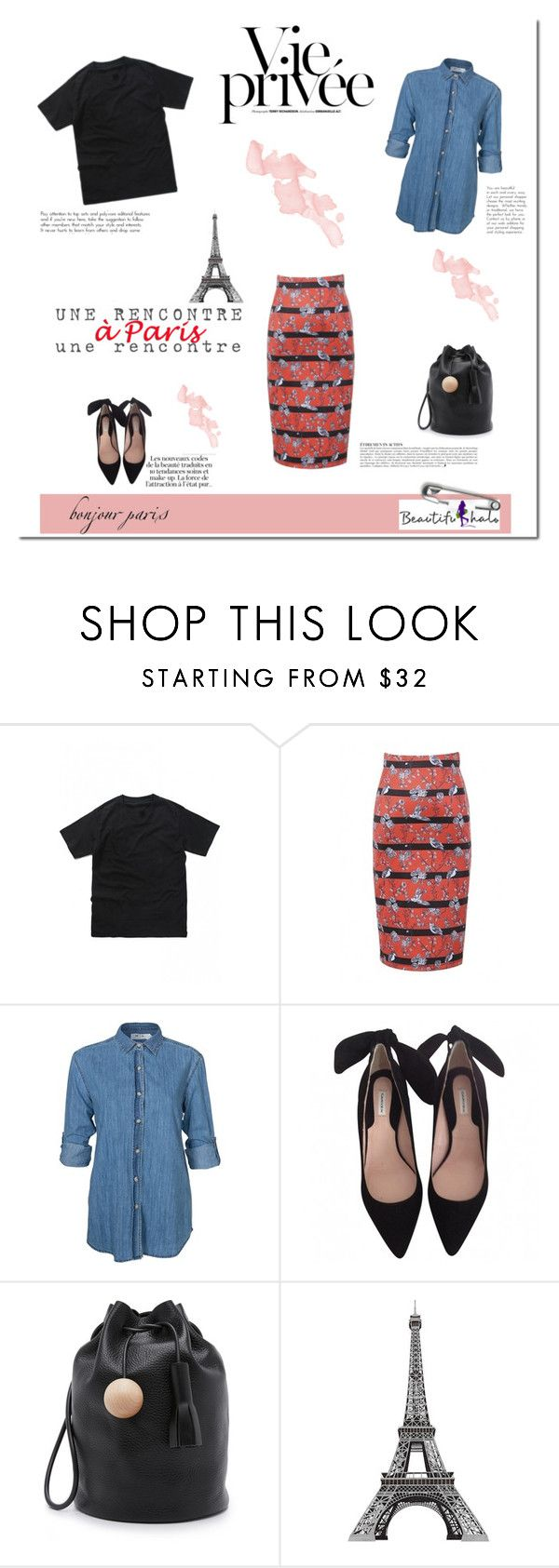 """""""A day in Paris!"""" by tatajrj ❤ liked on Polyvore featuring KAROLINA, WithChic, M.i.h Jeans, Building Block and Anja"""