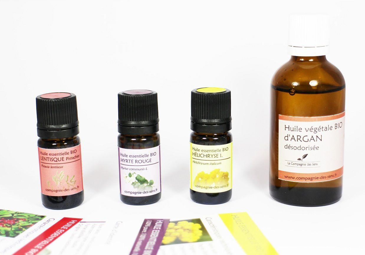 huile végétale cernes