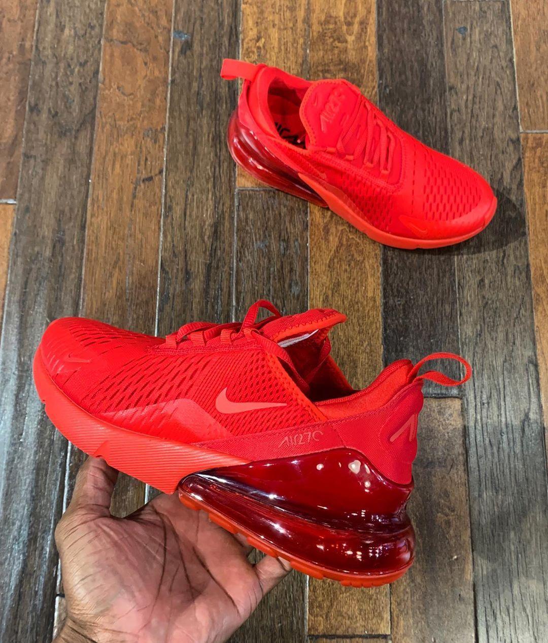"Livekickz on Instagram: ""NIKE AIR MAX 270 TRIPLE RED ALL MEN ..."