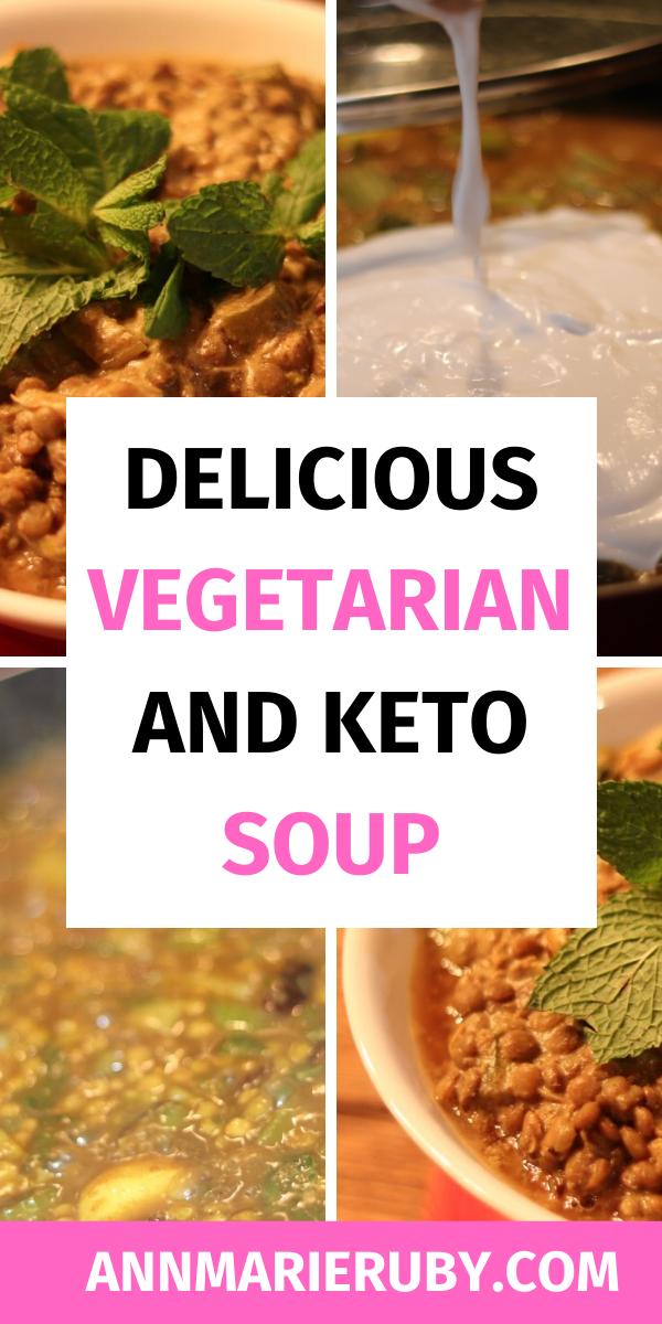Comfort Food Low Carb Lentil Soup With Coconut Milk Recipe Delicious Vegetarian Lentil Soup Vegetarian Lentil Soup