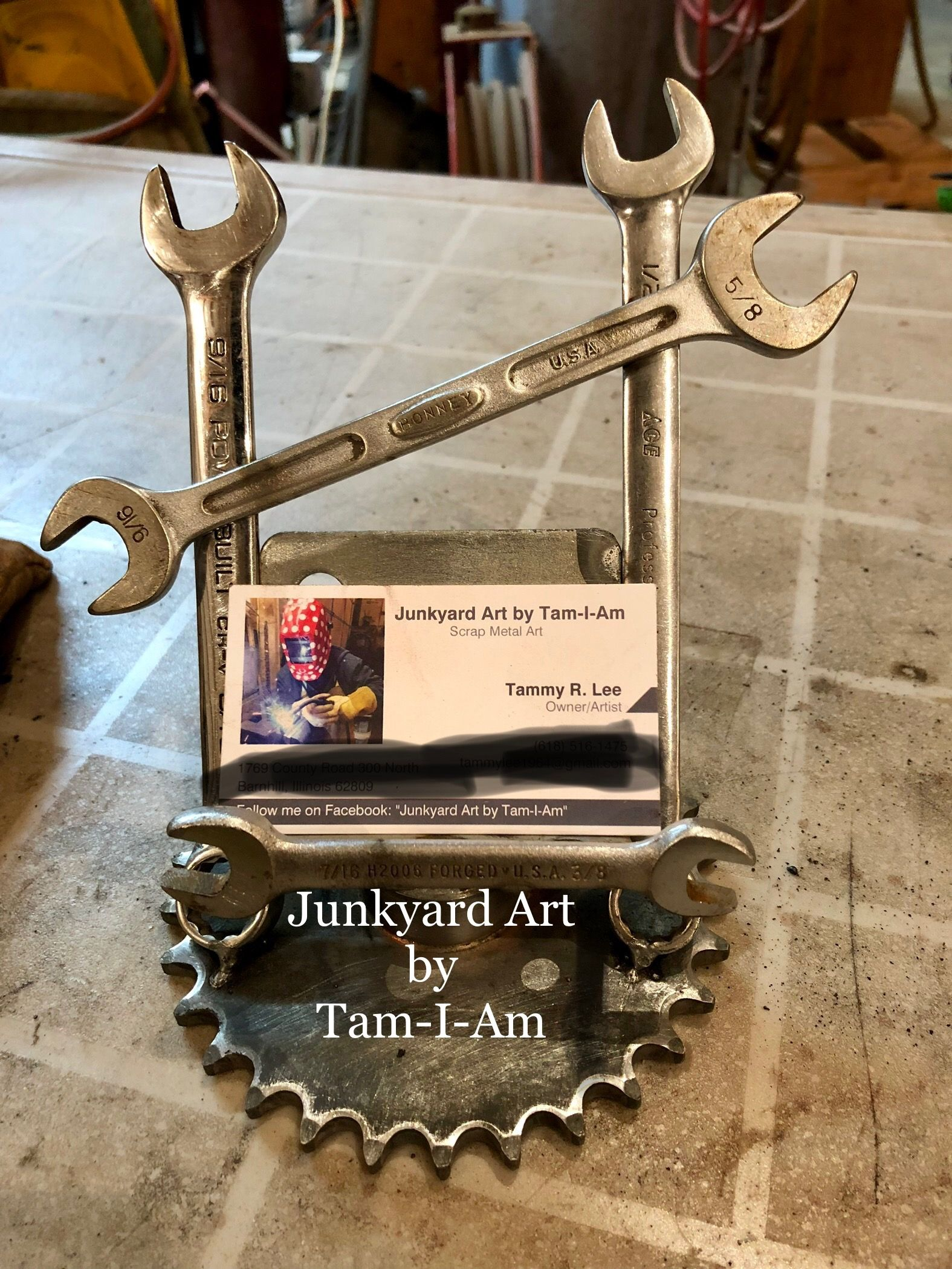 Junkyard Art by Tam-I-Am. Repurposed wrenches and a sprocket welded ...