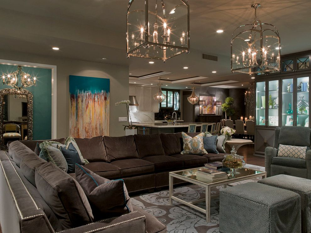 Living Room Glam Design Pictures Remodel Decor And Ideas  Page Magnificent Brown Sofa Living Room Design Ideas Design Inspiration