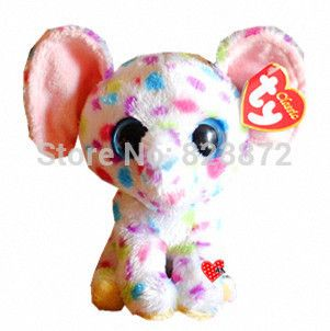 6612d51f0b6 New Ty Beanie Boos White Elephant Plush Animals 6   15cm Ty Big Eyes Stuffed  Animal Cute Soft Toys for Children Kids Gifts
