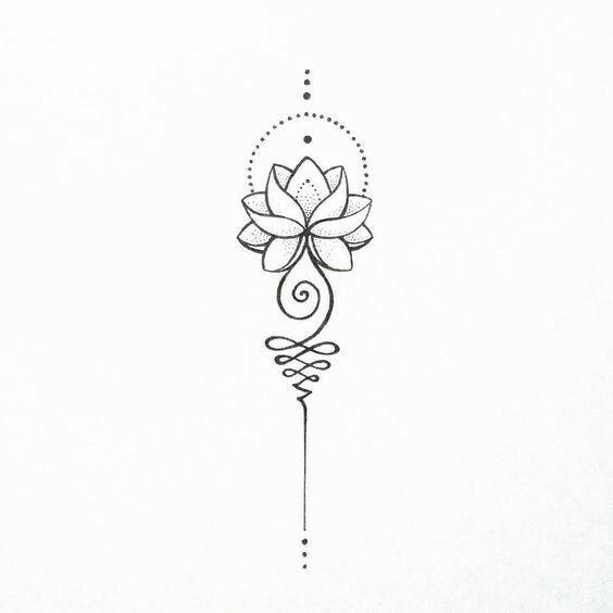 Flor De Loto Tatuajes Pinterest Unalome Tattoo And Tattoo