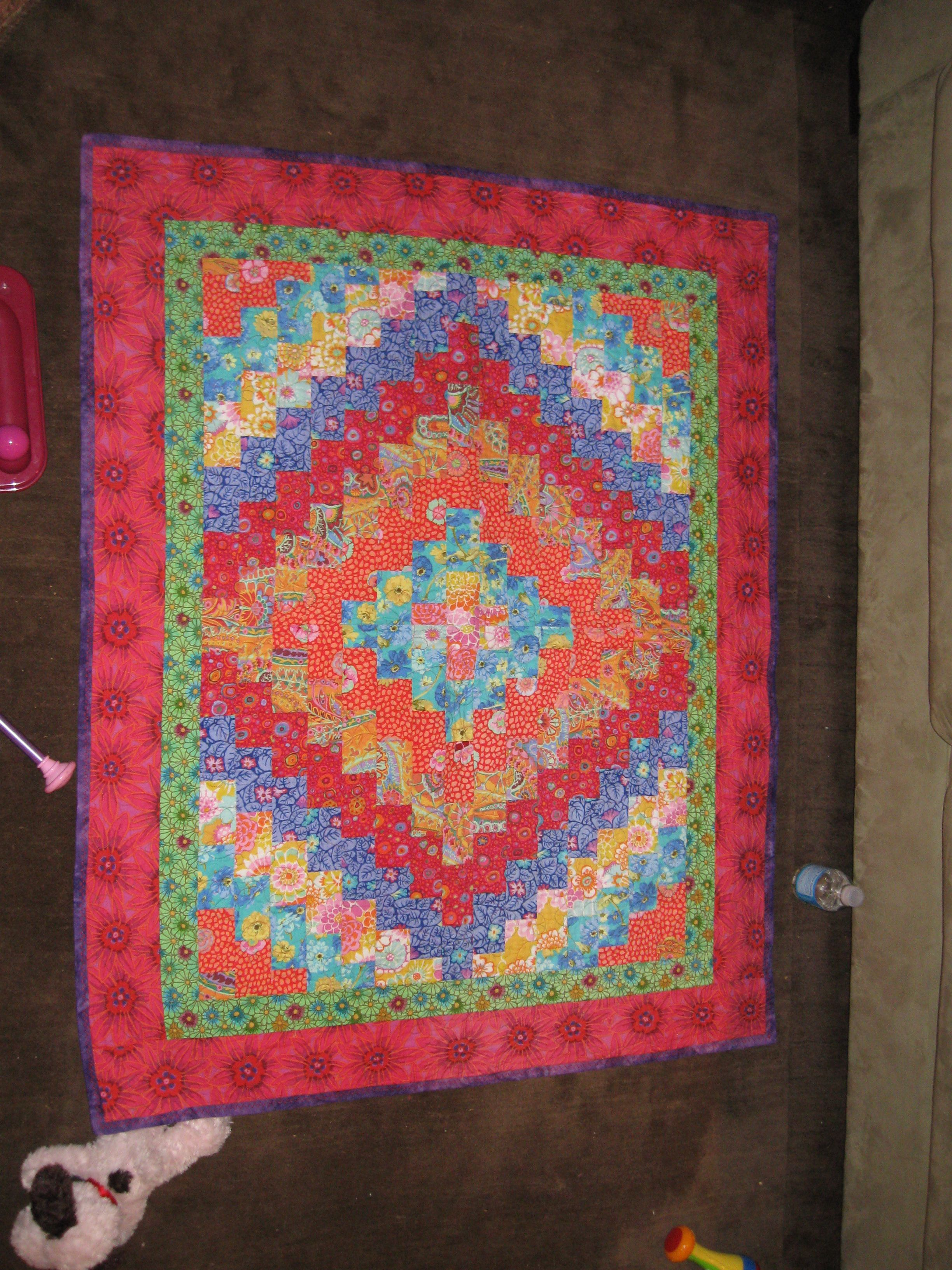 Abbys baby quiltfrom eleanor burns trip around the