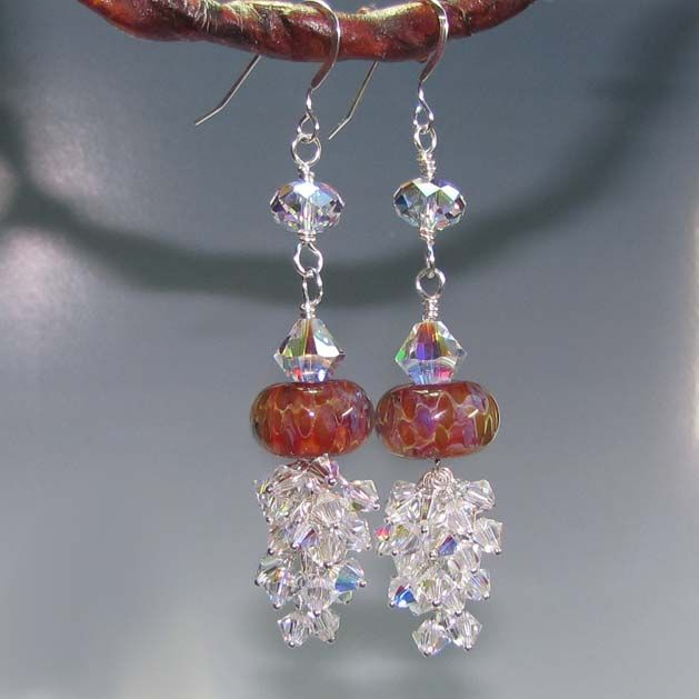Lampwork Swarovski Crystal Earrings Tutorial Only The Other One Is Kit