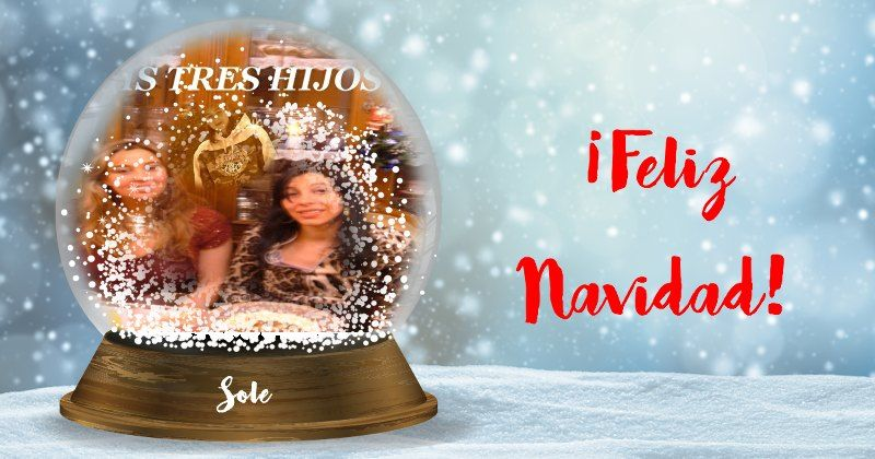 ¡Crea tu globo de nieve de Navidad!