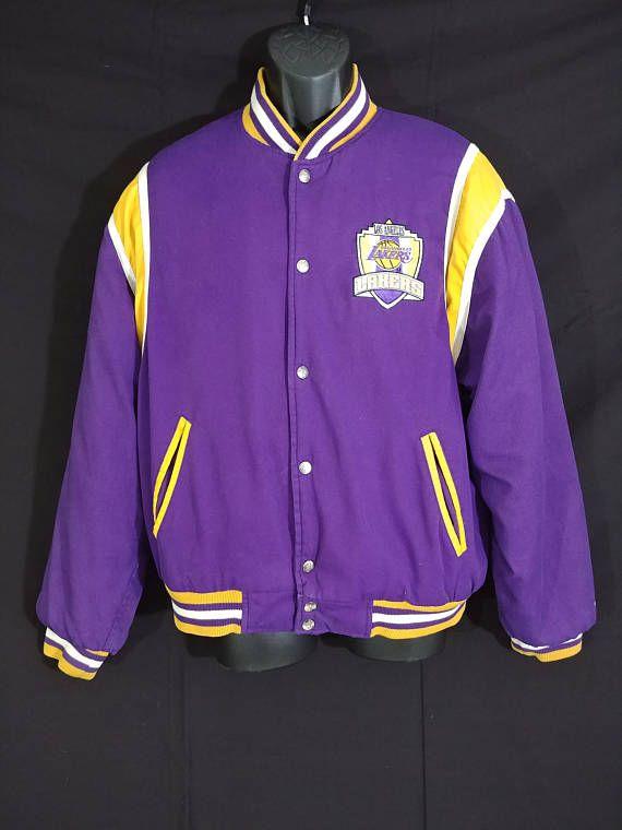 Vintage Rare Lakers Jacket Retro L A Lakers NBA Jacket Retro