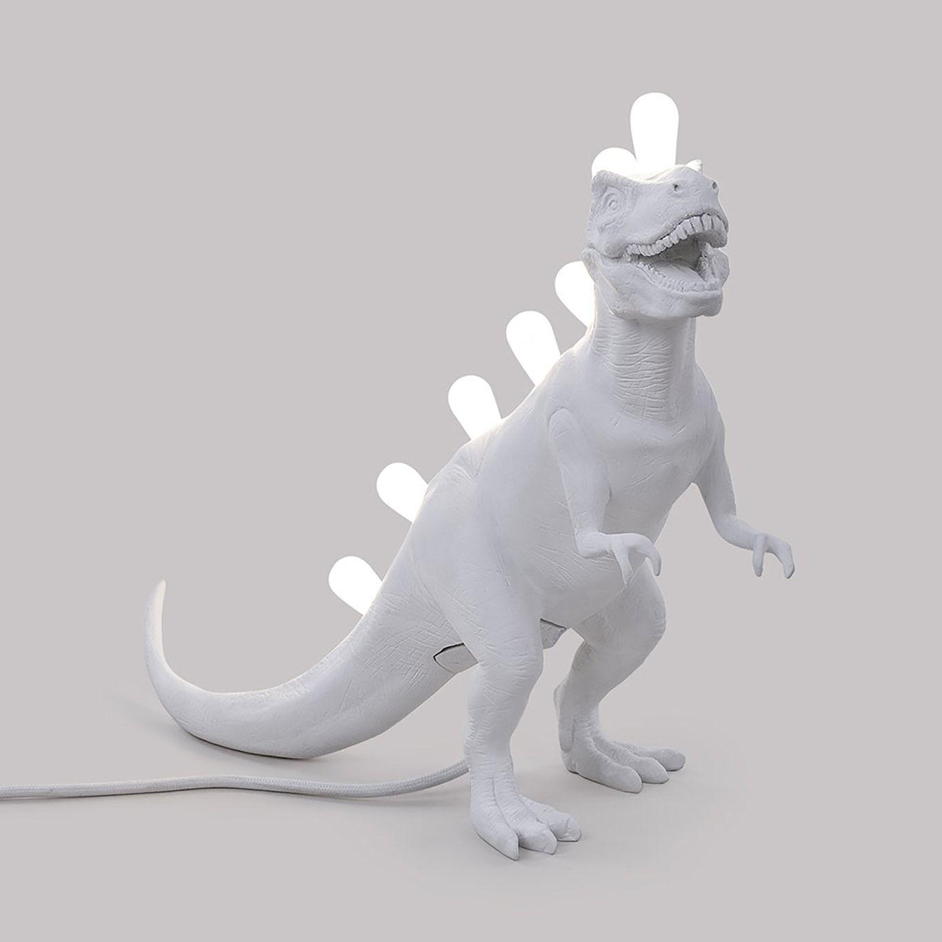 Jurassic Lampe Rex Hvit Seletti Royaldesign No Dinosaur Design Lamper