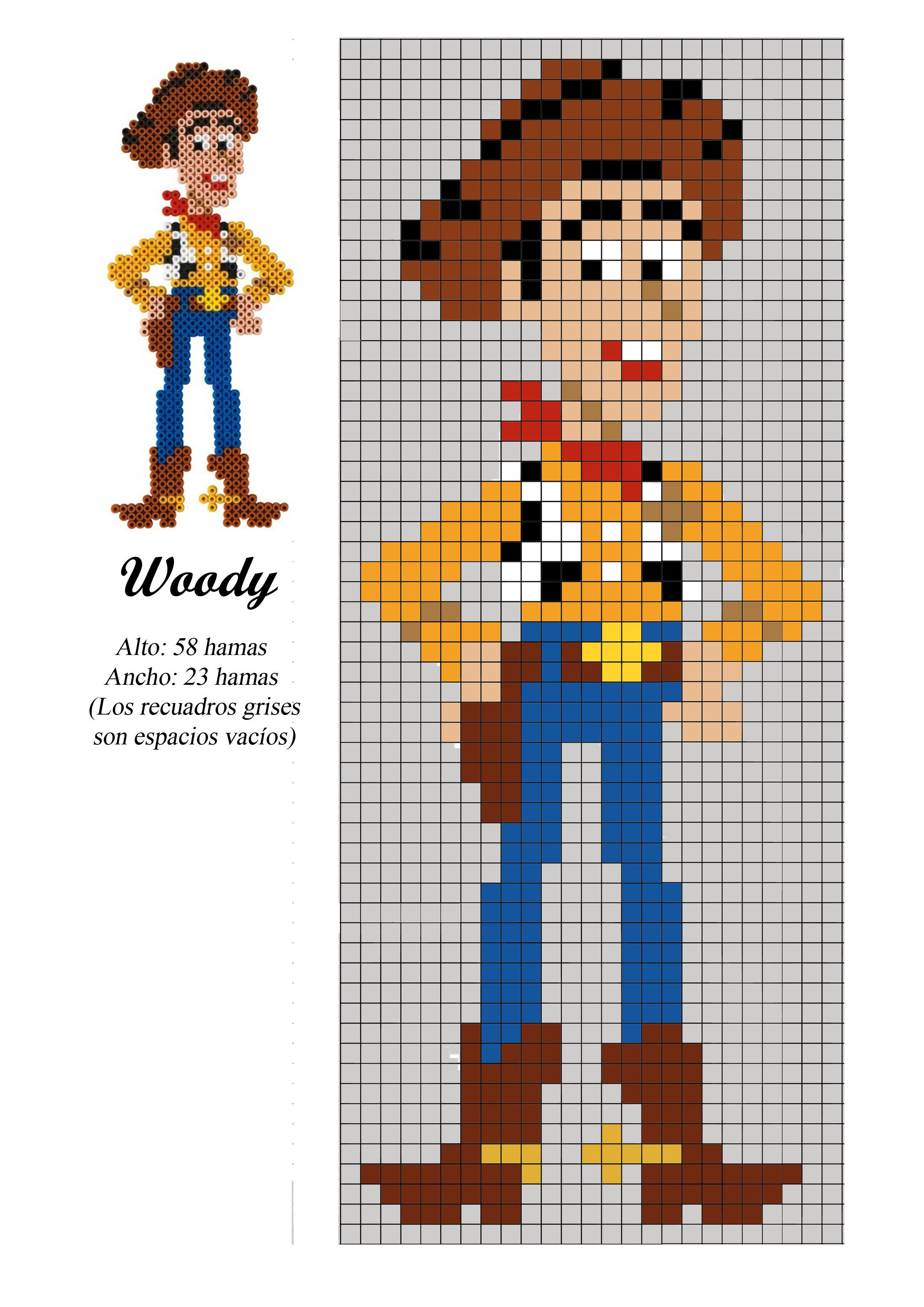 Woody - point de croix - | TOY STORY | Pinterest
