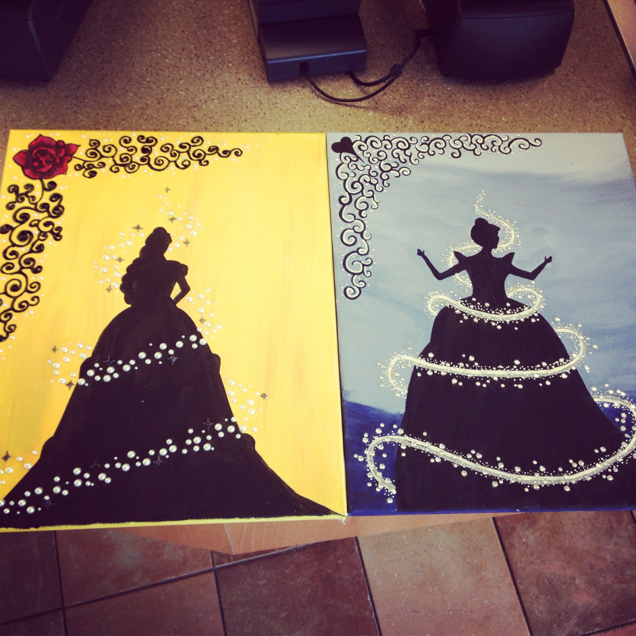 Disney princess paintings I made. | Things to paint | Pinterest ...