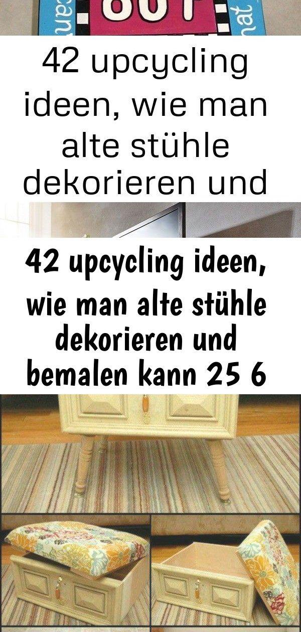 42 upcycling ideen, wie man alte stühle dekorieren und bemalen kann 25 6