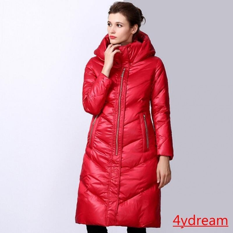 63b672301abe Women Winter Down Warm Long Paragraph Hip Lenght Warm Hooded Coat Parka Red  S-XL #fashion #clothing #shoes #accessories #womensclothing  #coatsjacketsvests ...