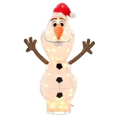 Gemmy 42 In Tinsel Olaf Santa Hat 37496 The Home Depot