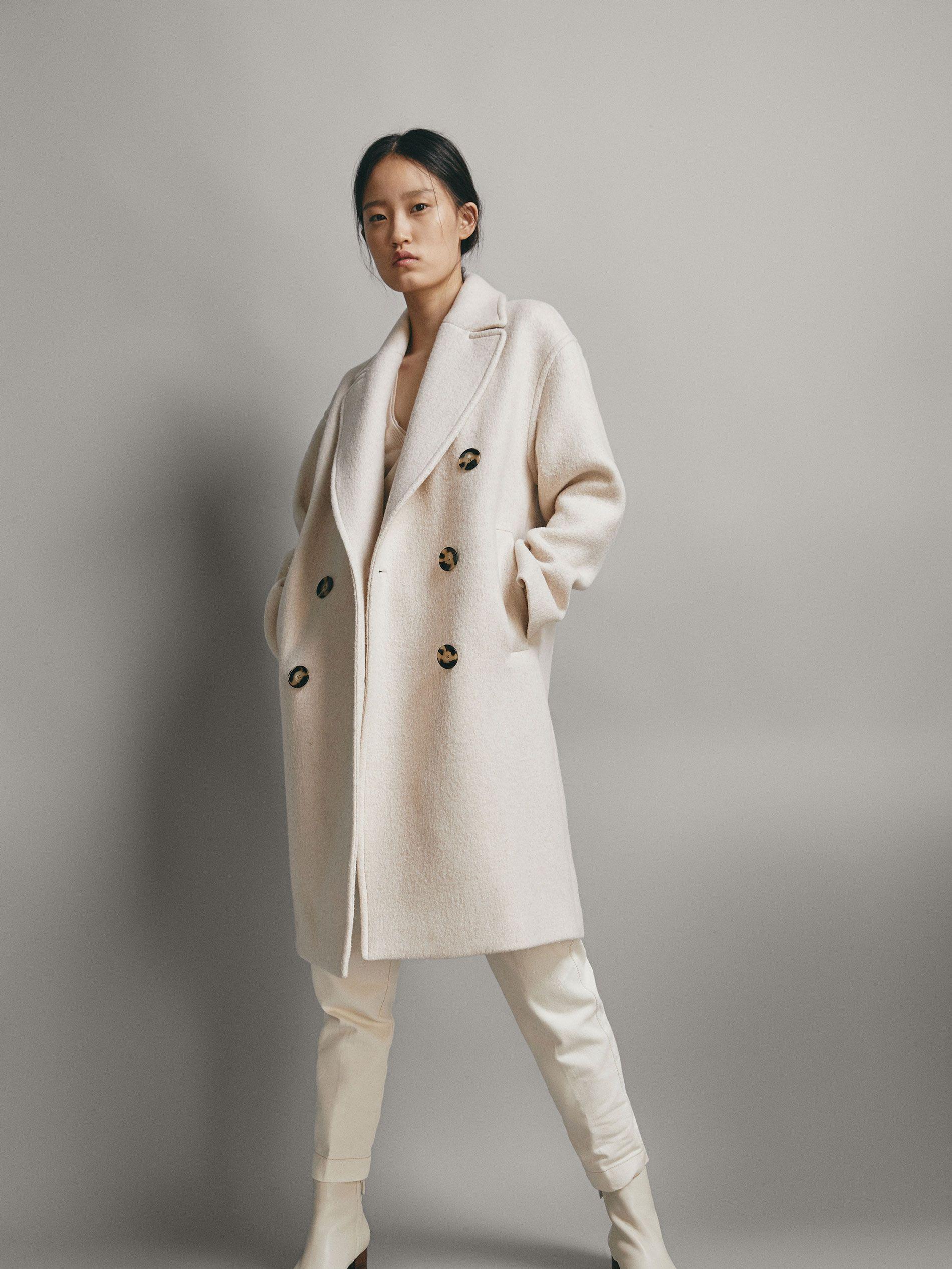 e26c1f78c41c Women's Outerwear | Massimo Dutti Winter Sale | Winter White in 2019 ...