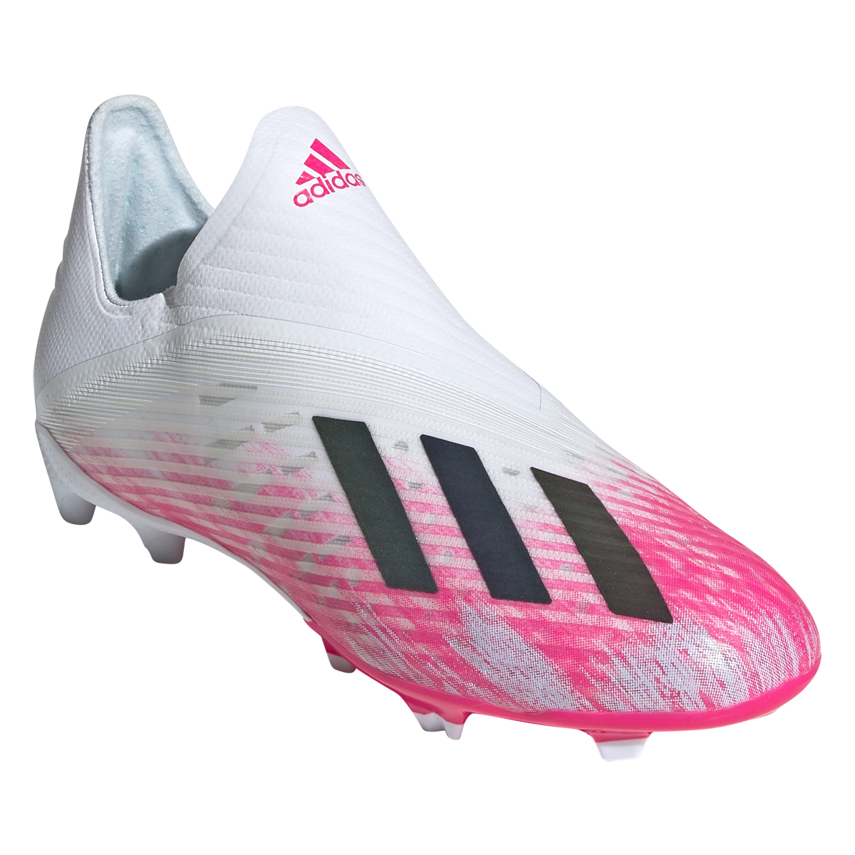 Adidas X 19 Fg Junior Soccer Cleats White Core Black Shock Pink 2 In 2020 Pink Soccer Cleats Soccer Cleats Cleats