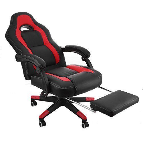 mophorn high back reclining chair 360 degree swivel racing chair