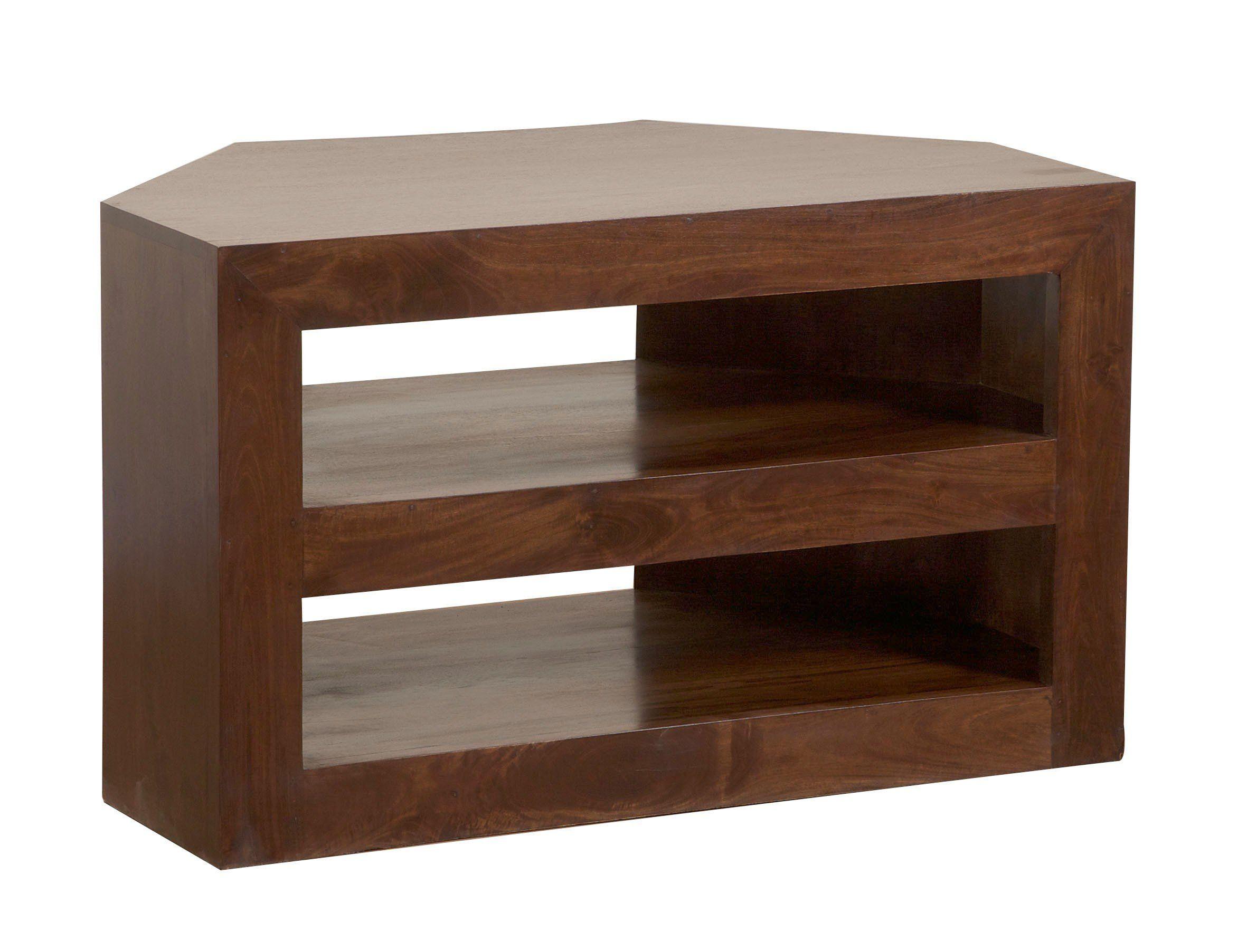 Homescapes Dakota Tv Dvd Corner Unit For Living Room Dark Shade Solid Mango Wood Furniture No Veneer Wood Shelves Kitchen Wood Shelves Mango Wood Furniture [ 1805 x 2362 Pixel ]