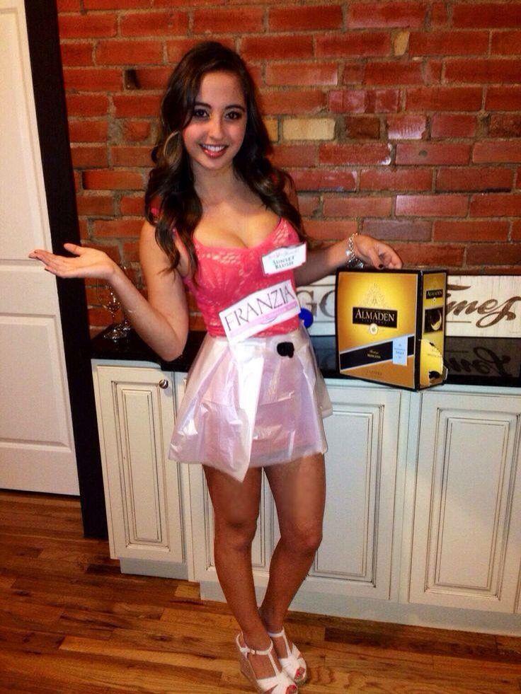 franzia boxed wine costume Halloween Pinterest Costumes - angel halloween costume ideas