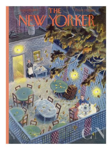 The New Yorker Cover - September 24, 1949 Poster Print by Tibor Gergely at the Condé Nast Collection