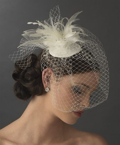 Modern Look Birdcage Veil With A Cool Bridal Hat