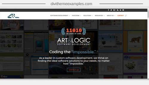 Divi Theme Website For Art Logic Software Development Software Development Logic Software Divi Theme